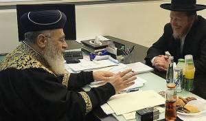 הראשון לציון בפגישה עם הרב ובר