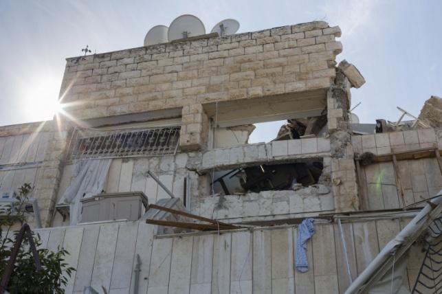 הבניין בשכונת גילה לאחר הפיצוץ