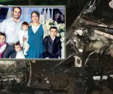 זירת התאונה - אח ואחות נהרגו, ההורים ו-2 ילדים נפצעו