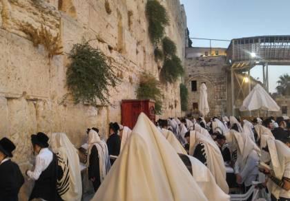 """י""""ז בתמוז: אלפי מתפללים בכותל המערבי"""