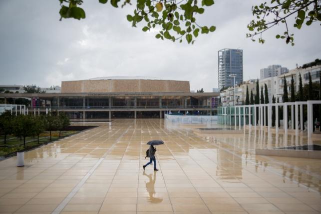 גשם כבד בתל אביב