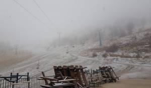 השלג החל לרדת ולהיתפס  • צפו בתיעוד לבן