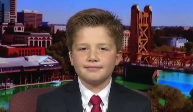 """הילד בן ה-10 שרוצה להיות נשיא ארה""""ב"""