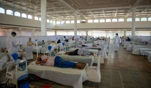 מחלקת קורונה בבית חולים בהודו