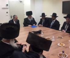 התכנסות של חברי וועדת הרבנים. ארכיון
