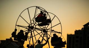 צפו בתמונות: ה'לונה פארק' של ילדי עזה