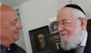 הרב ישראל מאיר לאו ועובדיה חממה ב'מדרשיר'