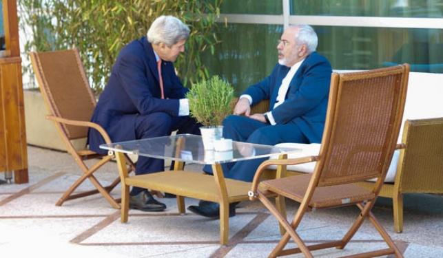 מוחמד זריף בשיחה עם ג'ון קרי