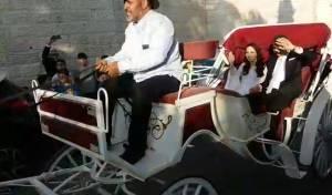 בסוס ועגלה: כך נערכה החתונה הירושלמית