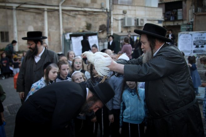 כפרות על תרנגול בירושלים
