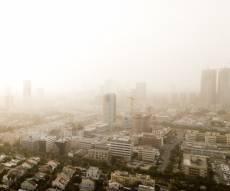 אובך אתמול בתל אביב