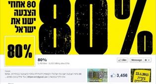 """80% ישנו את ישראל, דף הפייסבוק המדובר - קמפיין בפייסבוק נגד """"אי הצבעה"""""""