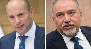 """ליברמן ובנט - ליברמן נגד בנט:  """"פגיעה בביטחון ישראל"""""""