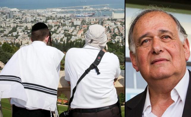 יהב על רקע מפרץ חיפה