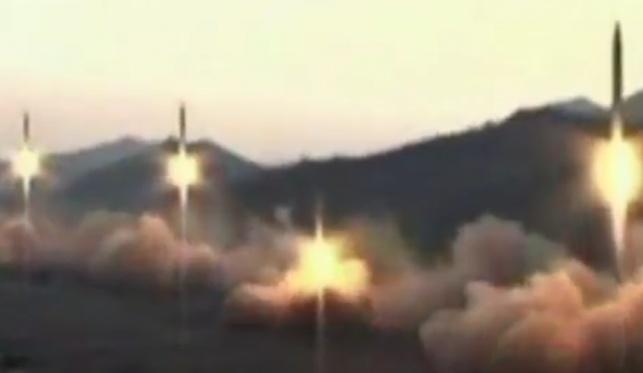 שיגור הטילים מצפון קוריאה. מרהיב