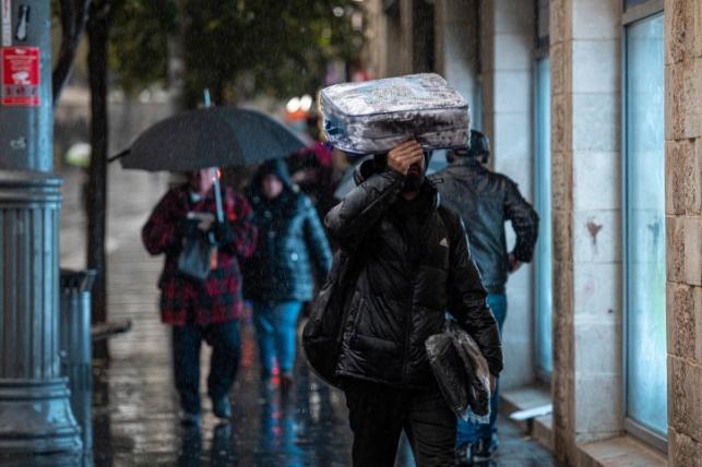 תחזית: גשם, סופות רעמים וברד ברוב הארץ