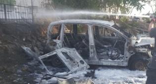 הרכב שנשרף