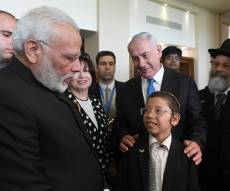 מודי בפגישה עם מוישי, יחד עם בנימין נתניהו