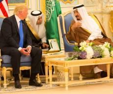 טראמפ והמלך סלמאן - יורש העצר הסעודי הודח בידי המלך סלמאן