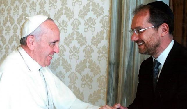 הרב סאקה והאפיפיור פרנציסקוס