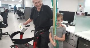 בנו של הרב אנדר עם נח קליגר