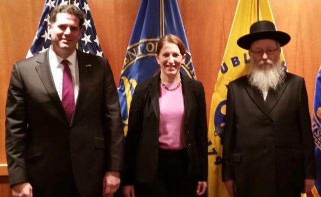 תיעוד: ליצמן והשרה האמריקנית ישתפו פעולה