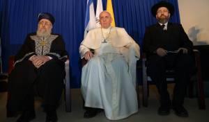 הגאון רבי יצחק יוסף לצד האפיפיור
