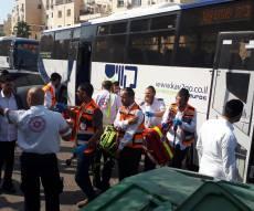 תאונת אוטבוסים: נערה נפצעה בינוני; 9 קל