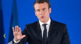 נשיא צרפת עמנואל מקרון