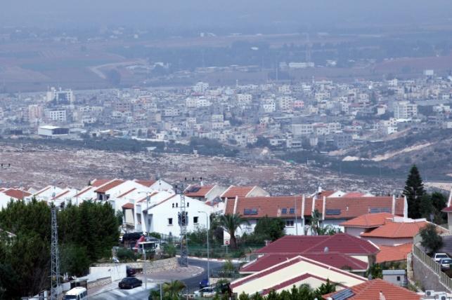 קלקיליה, נשקפת מישוב ישראלי