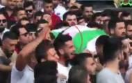 תיעוד המחבל בהלווית הפלסטינית