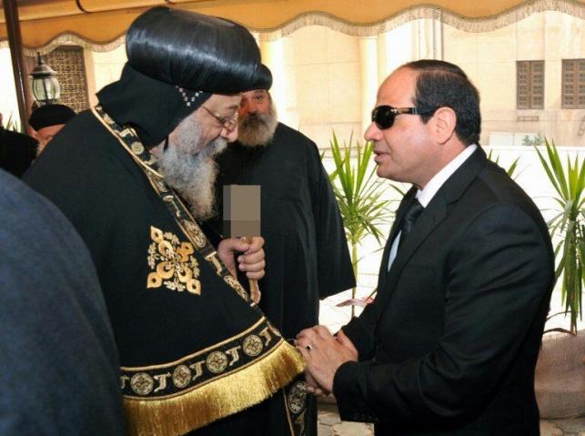 הנשיא המצרי ביקר בכנסיה שנפגעה בפיגוע