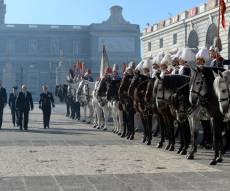 כשריבלין סקר את משמר הכבוד של ספרד. צפו