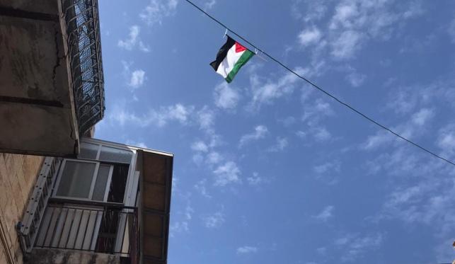 המשטרה הסירה דגל פלסטין במאה שערים