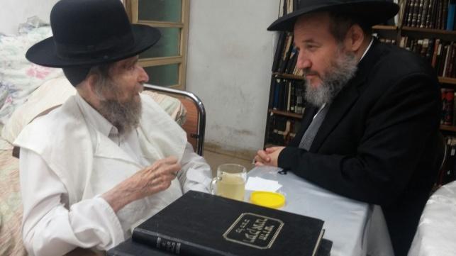 """הרב אליעזר סורוצקין אצל מרן הגראי""""ל שטיינמן, אתמול"""