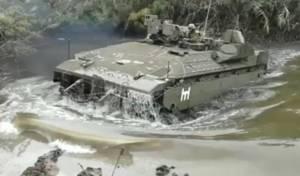 """טנקים ונגמ""""שים חצו מכשול מים חורפי. צפו"""
