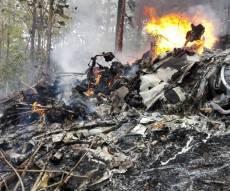 השברים הבוערים של המטוס - 3 יהודים נוספים נהרגו בהתרסקות המטוס