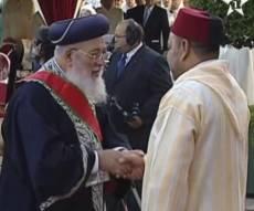 """הגר""""ש עמאר ומלך מרוקו - הרב עמאר למלך מרוקו: התפללנו לשלומך"""
