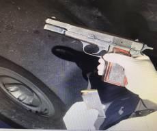 האקדח שהושלך - יצרו חור בתקרה ודרכו חדרו לבצע את השוד