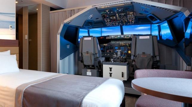 סימולטור טיסה מלון האנדה אקסל שדה תעופה יפן
