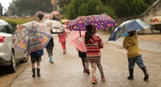 שוב גשום - ברד כבד בגוש דן, חשש משיטפונות בדרום
