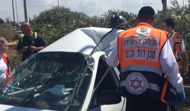 מחלף גנות: בן 4 נפצע אנוש בתאונה