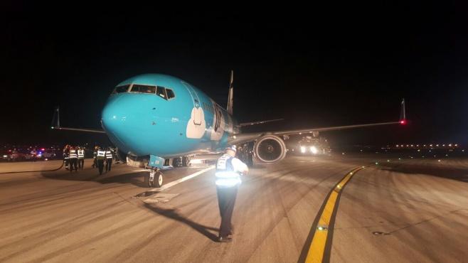 """צפו: המטוס נוחת נחיתת חירום מוצלחת בנתב""""ג"""