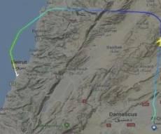 הטיסה מגיעה ללבנון