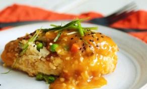 חזה עוף ממולא באורז וירקות עם רוטב הדרים - חזה עוף זה לא רק שניצל - והרי ההוכחה