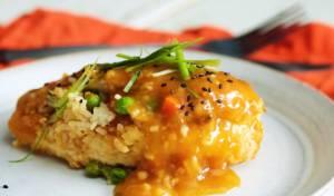 חזה עוף ממולא באורז וירקות עם רוטב הדרים