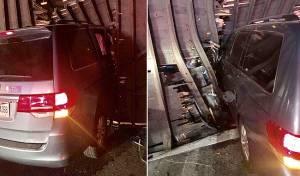 זירת התאונה - פנסילבניה: ילדי משפחה חרדית נפצעו אנוש