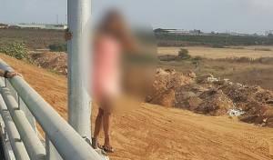 השוטרים זינקו ומנעו את קפיצת הבחורה