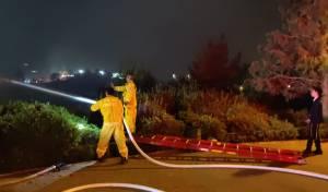 שריפה בשכונת הר נוף; תושבים פונו מבתים