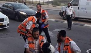המתנדבים החרדים מטפלים באישה הפצועה